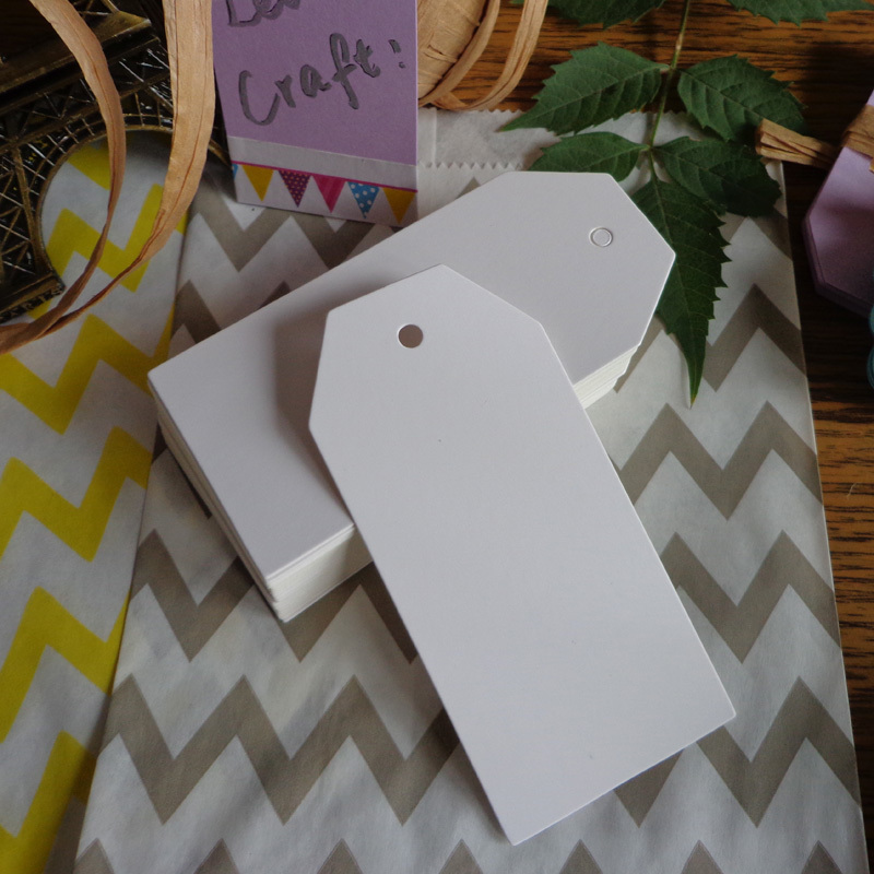 100pcs 4.5X9.5cm Bookmark Big Size Trapezoid White Cardboard Blank Paper Tags DIY Creative Note Price Lable Hang Tag Gift Tag
