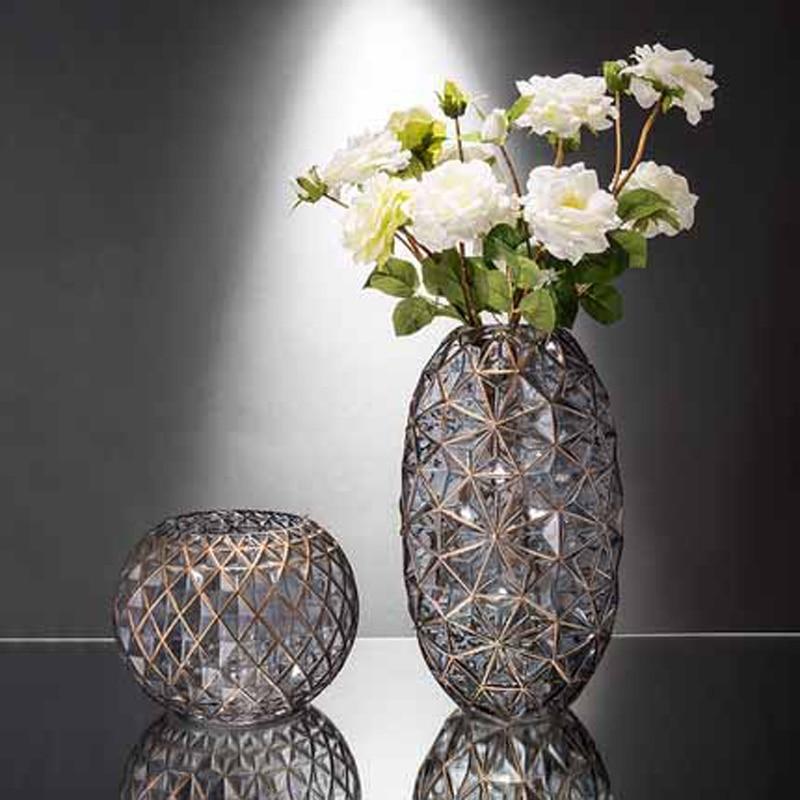Современный необычный, прозрачный стеклянный Вазы Свадебные вазы для цветов гостиной украшения домашнего стола