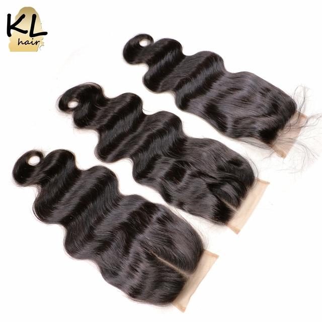 Grau 7a onda do corpo do cabelo lace closure com fecho de cabelo do bebê brasileiro virgem 4x4 cabelo lace closure cabelo humano gratuito médio 3 parte