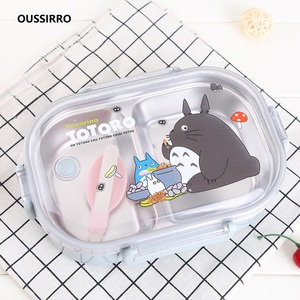 304 Stainless Steel Totoro Thermal Lunch Box Kid Adult Bento Boxs Leakproof Japanese Style Food Container Portable W2929