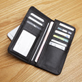 LANSPACE leisure Men's leather head layer cowhide leather long wallet Men's brand wallet high-capacity hand bag