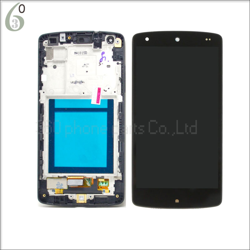 100 Original AAA gurantee For LG Nexus 5 D820 D821 lcd touch digitizer screen with frame
