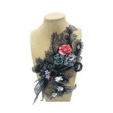 1 шт. Модные Топы Футболка пальто патч для брюк аппликация 3D аксессуары для одежды 37*15 см цветок сливы Дизайн Аппликация на одежду