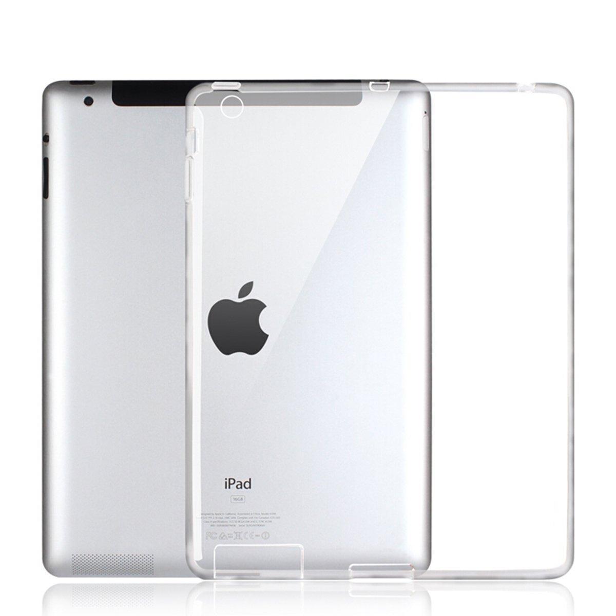 Para o iPad 2/3/4 Caso, Ultra-fino Tampa Traseira Limpar Macio TPU Pele de Silicone Protetor Caso Capa para fundo de iPad 2 caso do ipad 4 casos