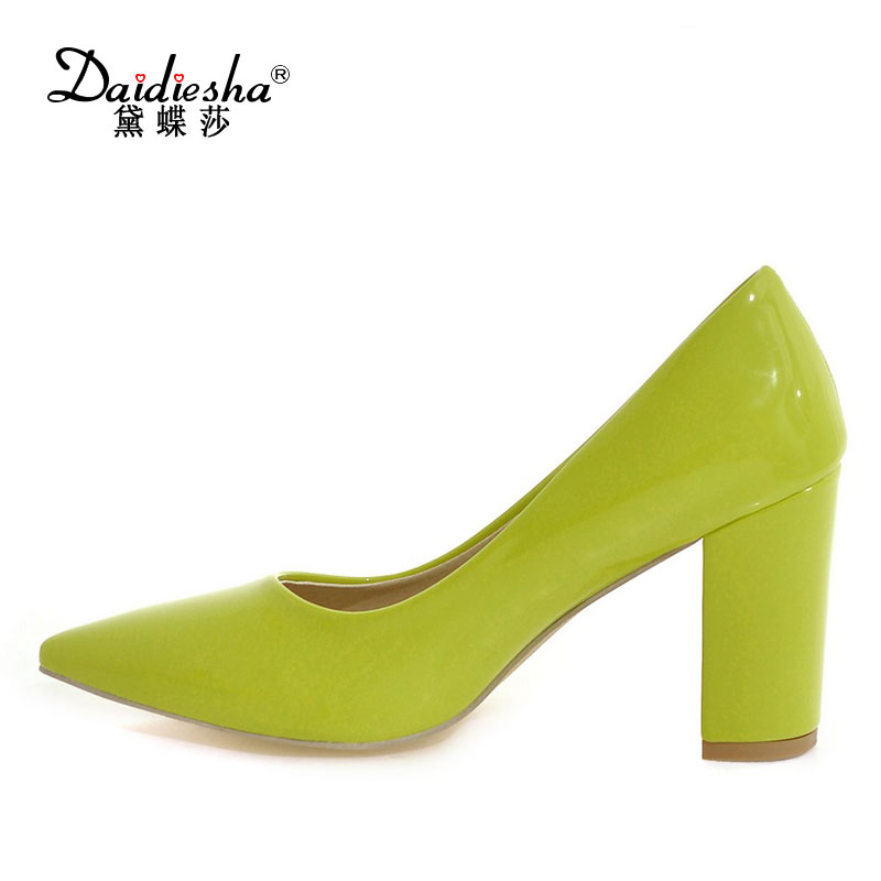 Daidiesha Classic Sexy Pointed Toe High Heels Women Pumps Shoes Office Ladies Shallow Zapatos Office Career Choes Woman k1 portable 3w bluetooth v2 1 speaker w mic mini usb tf fm golden black silver
