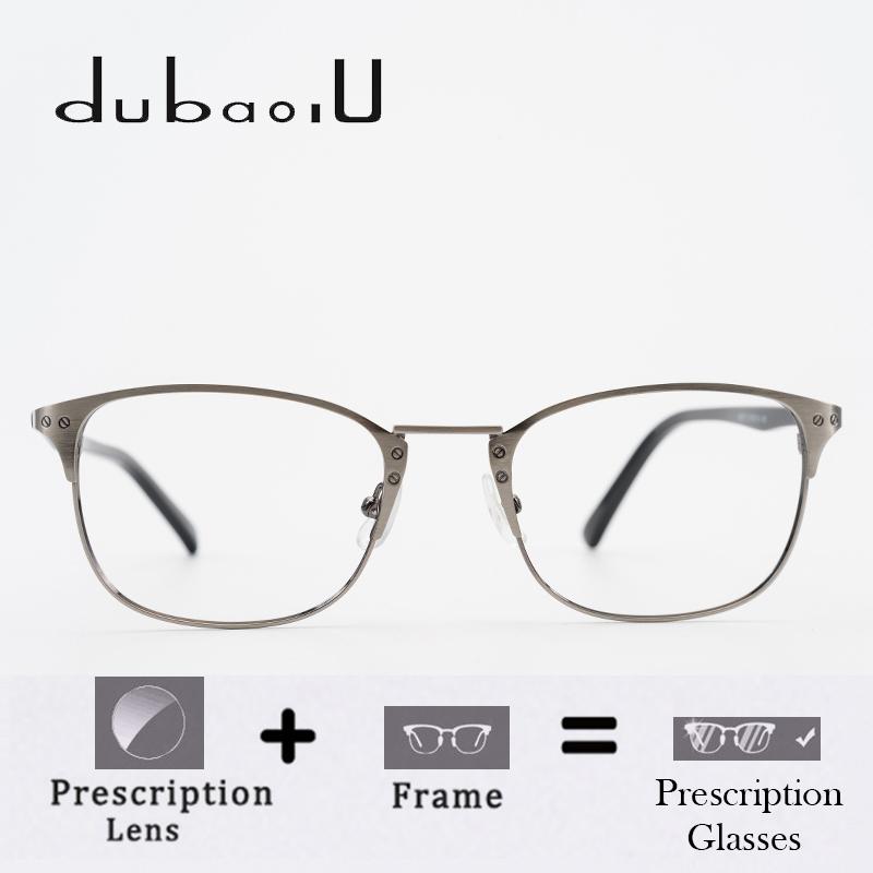 Alloy Prescription Glasses Men Vintage Retro Brand Designer Rivet Clear Optical Computer Myopia Prescription Eyewear #66879