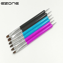 EZONE Double Head Nylon Hair Paint Brush Cute Colorful For Oil Water colorful  Painting Art PaintingTools School Supply