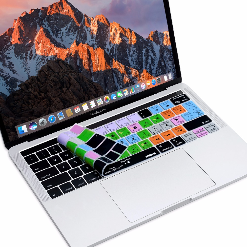 US $13 99 |XSKN for Apple Mac Logic Pro X Hotkey Keyboard Cover Skin for  Touch Bar Macbook 13