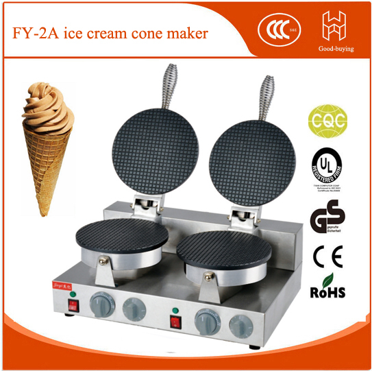 Resaurant ice cream cone machine baker waffle maker ice cream maker