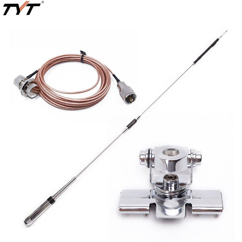 Original TYT TH 9800 Quad band 29.6 / 50 /144 /435MHz Stainless Antenna for TYT TH 9800 Plus Mobile Radio TH9800 plus Car Radio-in Walkie Talkie from Cellphones & Telecommunications on AliExpress - 11.11_Double 11_Singles' Day 1
