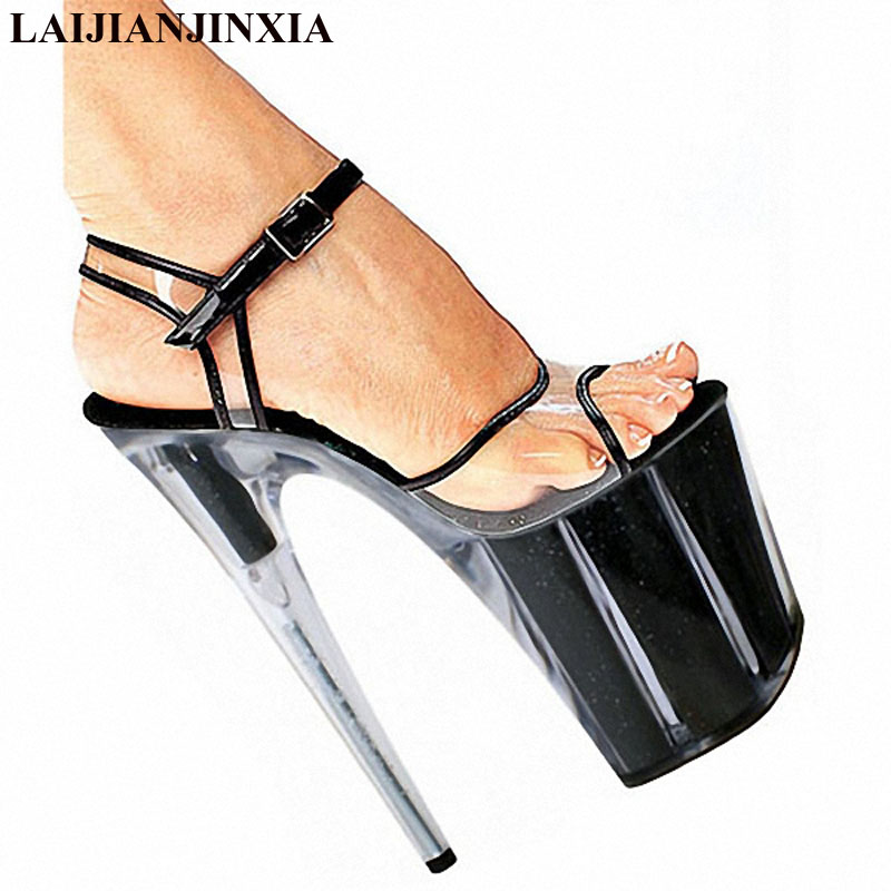 Laijianjinxia Women New 20cm Ultra High Heels Platform Sandals Night Club Party Wedding Dress Dancing Shoes Pole Dance Shoes Consumers First Office & School Supplies