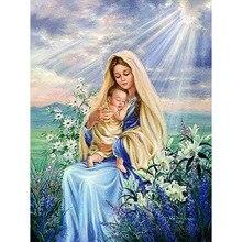 DIY Madonna diamond painting virgin child dimaond embroidery full drill mary mosaic round