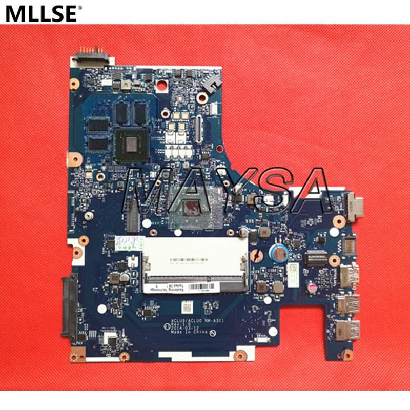 Оригинальный Системы доска для Lenovo g50-30 Материнская плата ноутбука aclu9/aclu0 nm-a311, с n3540 процессор, 100% работает!