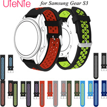 Sport silicone watch strap for samsung gear s3 Frontier/Classic M-R760 SM-R770 band bracelet replacement smart watch wristbands цена