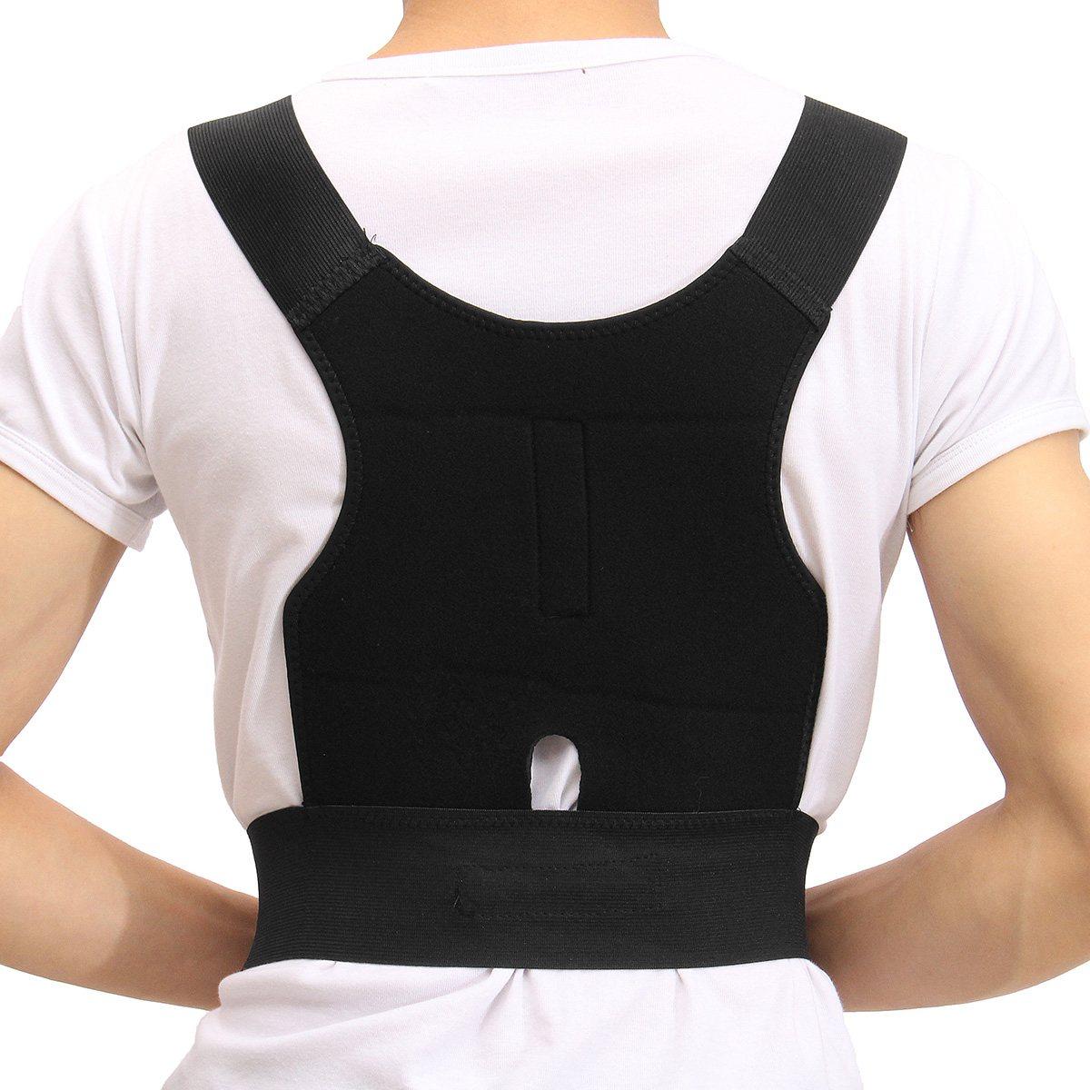 Adjustable Adult Back Posture Corrector Back Shoulder Lumbar Braces Spine Support Belt Posture Correction Back Support Men Women