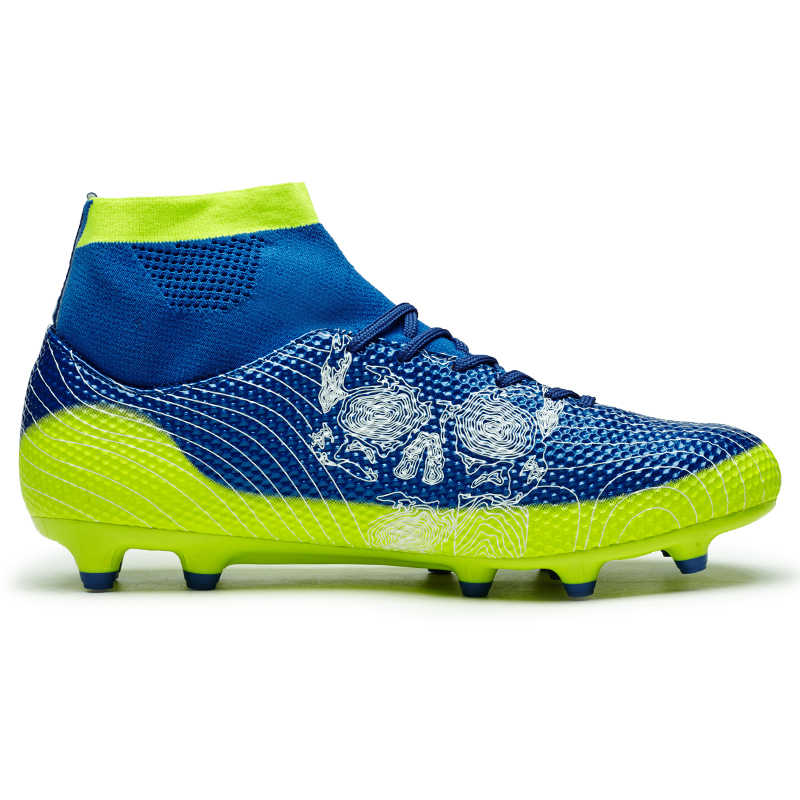 3d6b123aa ... New Football Boots Men Soccer Shoes Boys Kids Soccer Cleats FG High  Ankle Football Shoes Big ...