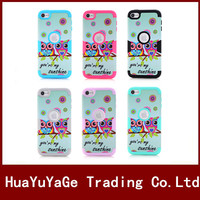 Multi Colorful Owl Pattern 3 In 1 TPU PC Shockproof Protective Phone Case For Apple Ipod