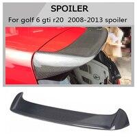 MK6 углерода задний спойлер на крыше багажник для Volkswagen VW Гольф 6 gti r 2009 2013 O стиль не подходит для Гольф 6 стандартных