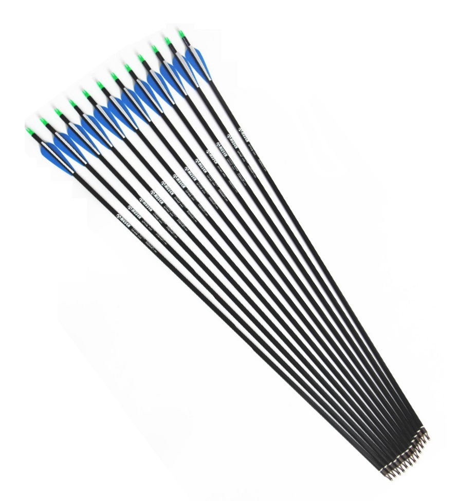 12 pcs lot 30 inches Pure Carbon Arrow ID0 245 for compound bow and recurve bow