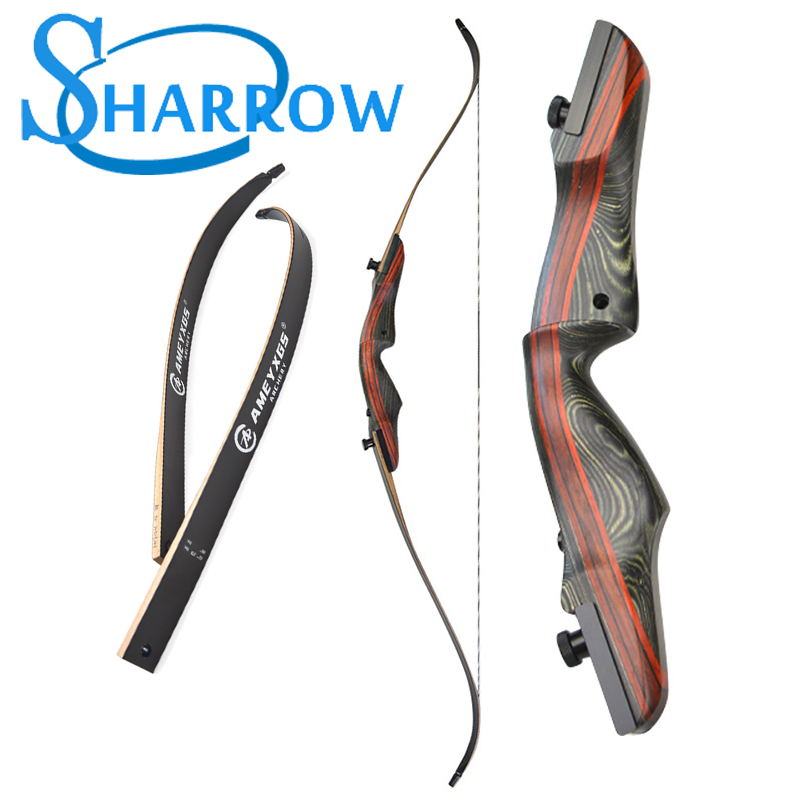 """Black Hunter Takedown Recurve Bow Archery Hunting Bow 60/"""",50lbs Target Practice"""