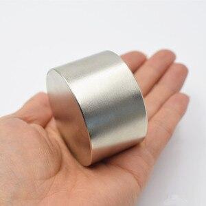 Image 5 - Neodym magnet 50x30 N52 rare earth super starke leistungsstarke runde schweißen suche magnet 50*30mm gallium metall elektromagnet