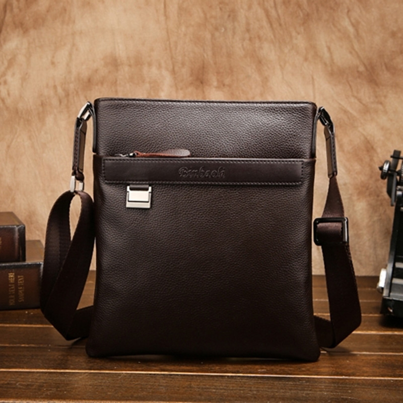 HOT!!! 100% Guarantee Natural Cowskin Men Bags Fashion Simple Style Men's Travel Bags Briefcase Soft Leather Men Messenger Bags