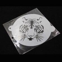 Шт. 1 шт. полупрозрачные пластмассовый трафарет для торта Тигр Дизайн для украшения торта капучино мусс CakeTools