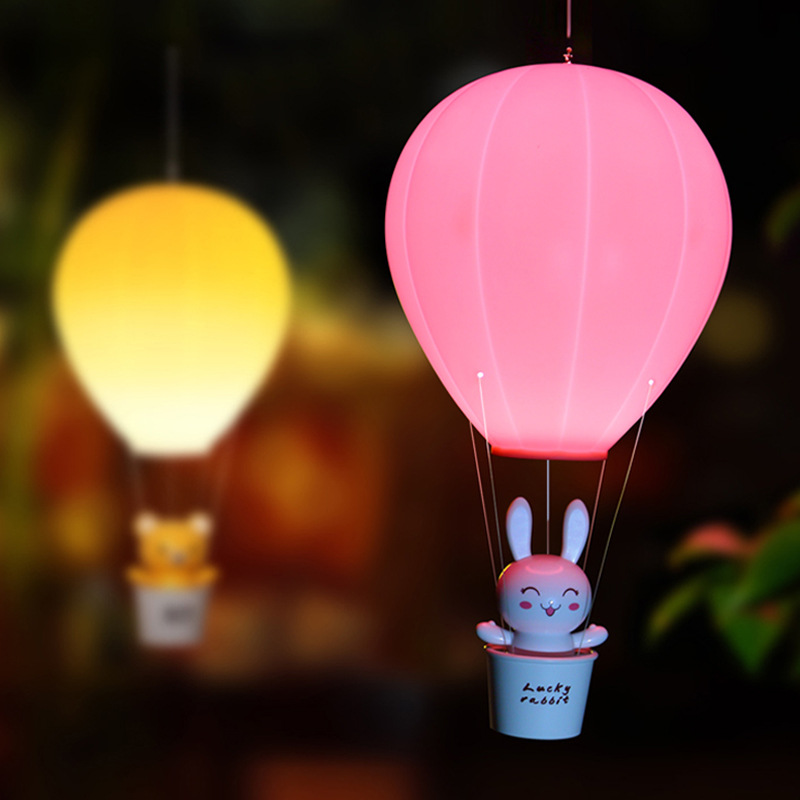 Top Dimmable Hot Air Balloon LED Night Light Children Baby Nursery Lamp With Touch Switch USB Rechargeable Wall Lamp