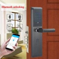 Электронные Keyless цифровой дверной замок Smart WI FI удаленного Bluetooth код блокировки дверей разблокировка с TTlock APP, код M1 карты, и ключ