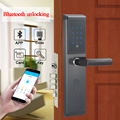 Fechadura da porta do teclado digital da fechadura da porta do teclado de digitas do controle remoto eletrônico de wifi inteligente com ttlock app, código, cartão m1, e chave