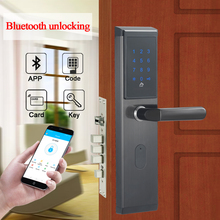 אלקטרוני חכם WIFI מרחוק Bluetooth סיסמא דלת מנעול מנעול דיגיטלי דלת נעילה עם TTlock APP, קוד, m1 כרטיס, ומפתח