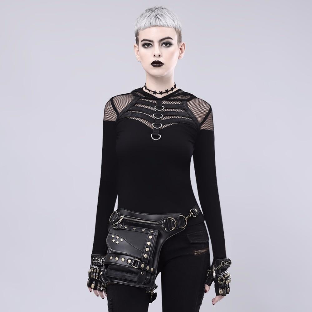 Gear Duke Rock Leather Waist pack Vintage Gothic Retro Steampunk womens shoulder vest accessory bag