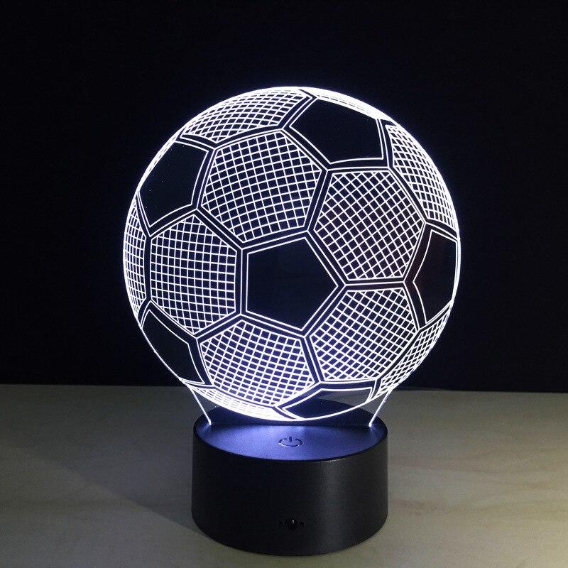 Promosyon 3D USB LED gece lambası yenilik masa lambası dokunmatik anahtarı masa lambası Luminaria noel hediyesi Kitap futbol