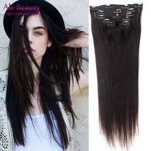 Brazilian Virgin Hair Clip In Natural Human Hair Extensions Clip In Real Hair For Black Women Aplique Cabelo Humano Tic Tac Hair