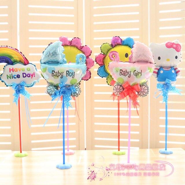 Online Shop Table Aluminum Balloons Floating Balloons Column For