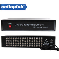 16 To 48CH Video Splitter/HD Distributor BNC 16Pcs Input 48Pcs Output,Support AHD/CVI/TVI Camera In&Out,Distance Max To 600M