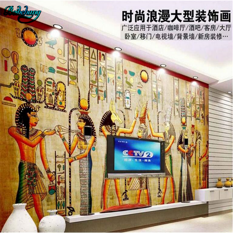 Beibehang large customized nonwovens wallpaper mural for Egyptian mural wallpaper