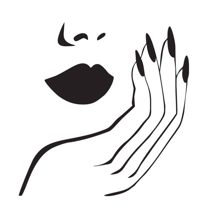 Гвозди Наклейки на стену для Спальня Обувь для девочек DIY Домашний Декор Женственная Дамская обувь маникюрный салон наклейки на стены винил...
