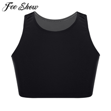 Tank-Tops Exercise-Wear Girls Kids Basic Solid for Ballet Dance Stage-Performance