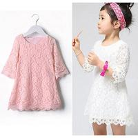 Baby Girls Lovely Lace Dresses Girls Kids Summer Dress 3 7 Years Old