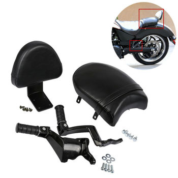 Motorcycle Rear Backrest Seat Passenger Foot Peg Mount For Victory Vegas Kingpin Boardwalk