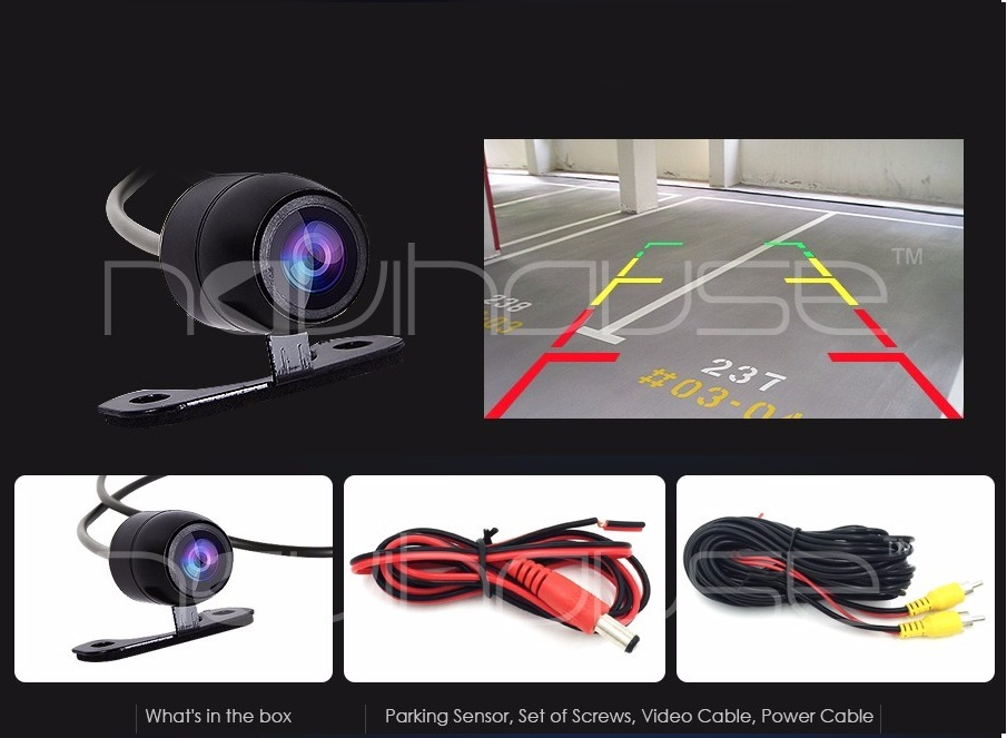FREE SHIPPING CMOS Car Rear View Back Reverse Backup Rearview Camera Parking Night Vision Waterproof 7 LED With Six Meter Wires