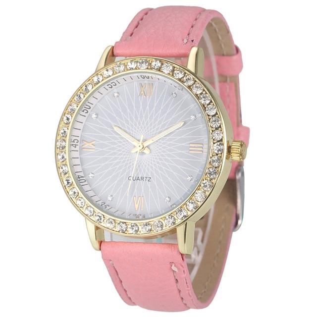 Women's Watches Diamond Analog Leather Quartz Wrist Wristwatches Relogio Feminin
