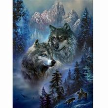 NEW forest wolf 5d Diamond Mosaic full  Painting Cross Stitch Embroidery Animal Pattern rhinestone decoration