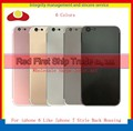 10Pcs/lot For iphone 6 and iphone 6 Plus like iphone 7 and 7 Plus Style Chassis Middle Frame Back Housing Battery Door Cover