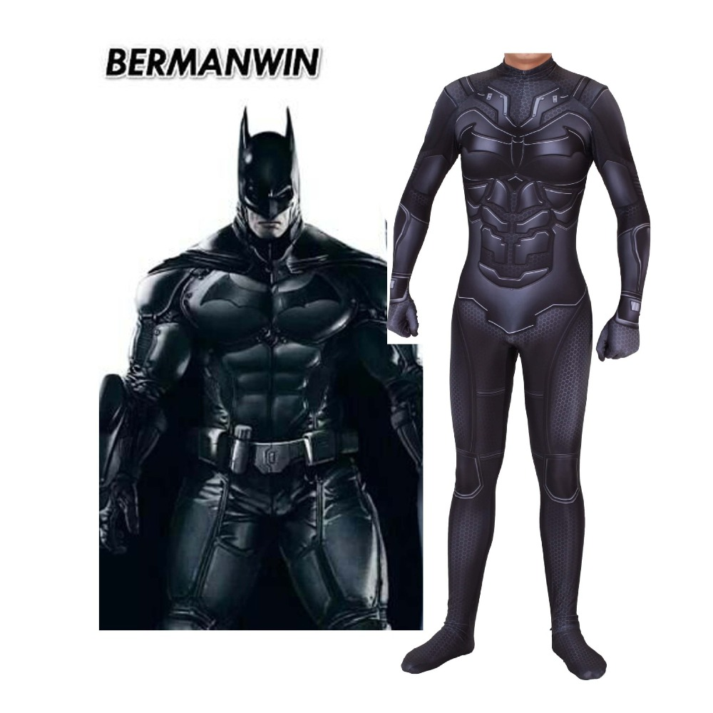 Adult Kids New Movie Batman Darknight Cosplay Costume bodytights Bruce Wayne Superhero Zentai Bodysuit Suit Jumpsuits JQ-1341