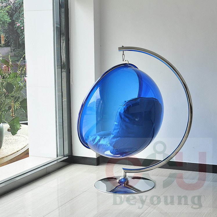 Bubble Chair Stand Semicircle Transparent Acrylic Outdoor Rocking Chair  Lifts Creative Bubble Ball Swing In Patio Swings From Furniture On  Aliexpress.com ...