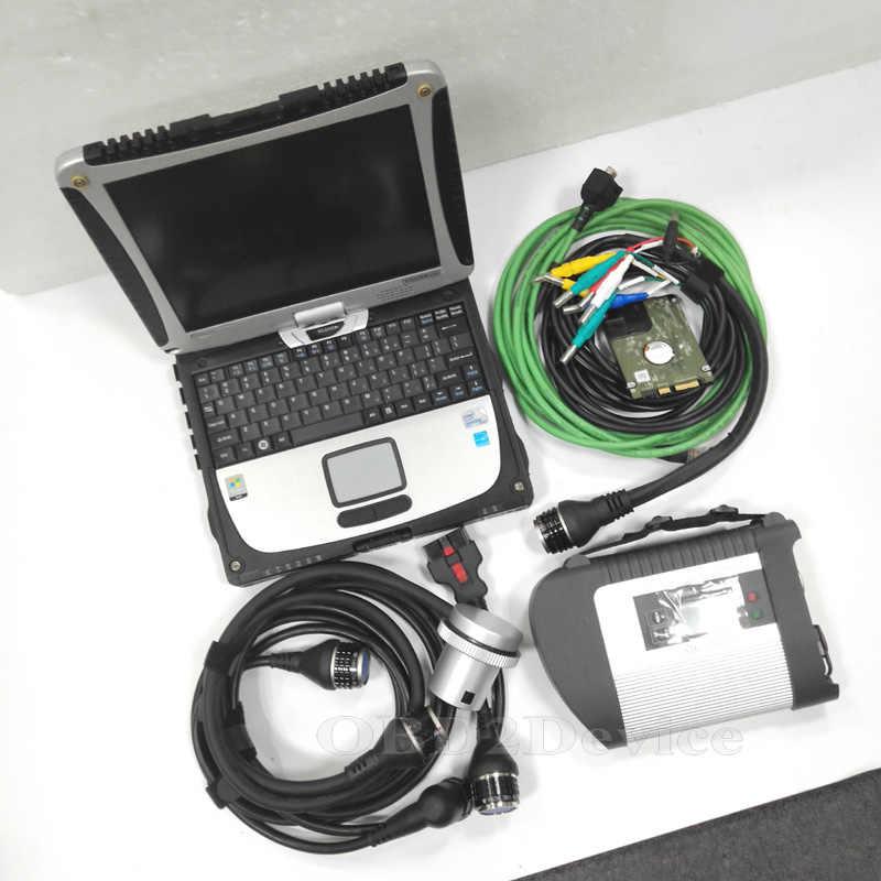¡Precio de fábrica! Mb Star C4 SD conectar Star diagnóstico C4 con CF19 Toughbook V2019.12 SW SD conectar C4 herramienta de diagnóstico