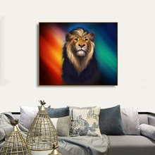 Aurora Lion Abstract Canvas Painting Calligraphy  Prints Home Decoration Wall Art Posters Pictures For Living Room Bedroom