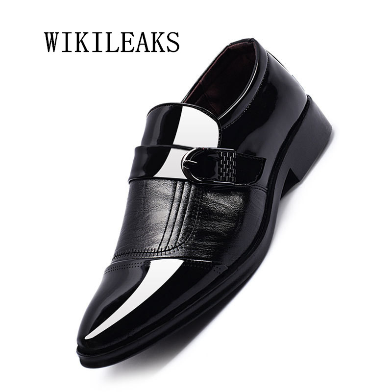new men shoes pointed toe loafers patent leather wedding dress shoes oxford shoes for men italy chaussure homme sapato masculino choudory new winter men ankle italian shoes men leather shoes pointed toe mens black dress shoes sequined toe spiked loafers men